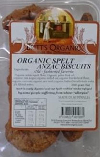 Spelt Anzac Biscuit Organic 200g - Britts Organic