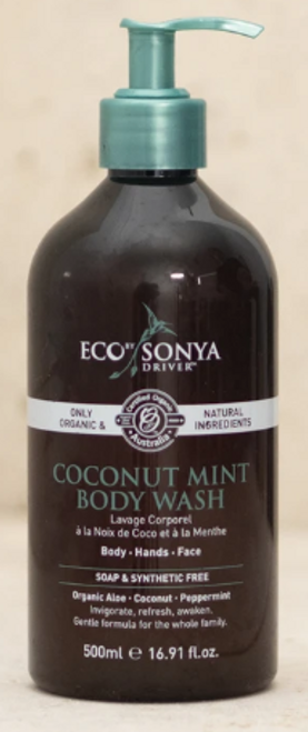 Body Wash Coconut & Mint Organic 500ml - EbSD/Eco Tan