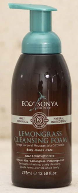 Cleansing Foam Lemongrass Organic 375ml - EbSD/Eco Tan