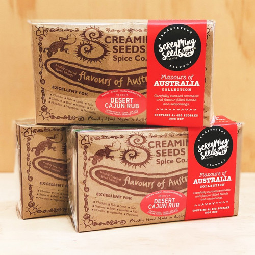 Flavours Of Australia Spice Gift pack (4 x 45g packs)  - Screaming Seeds