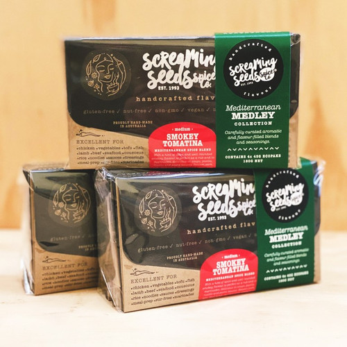 Mediterranean Spice Gift pack (4 x 45g packs)  - Screaming Seeds