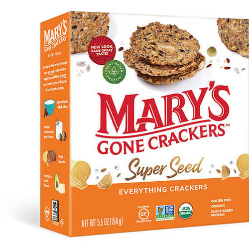 Superseed Everything Crackers Organic & Gluten Free 155g - Mary's Gone Crackers