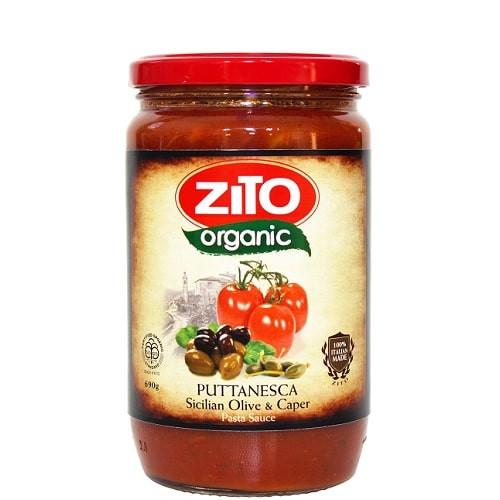 Pasta Sauce Olive & Caper Puttanesca Organic 690g - Zito