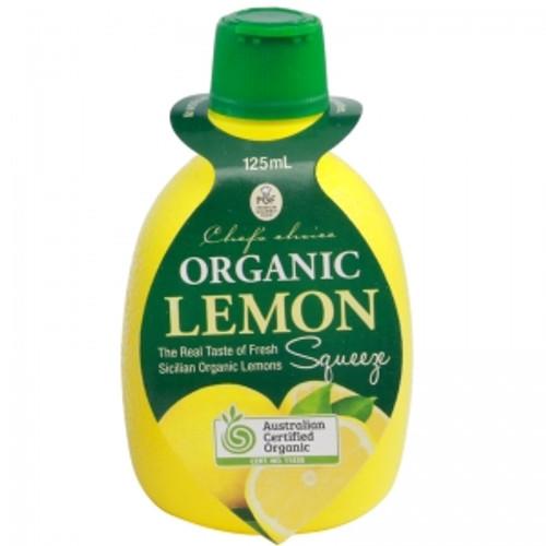 Lemon Juice Squeeze Organic 125ml - Chefs Choice