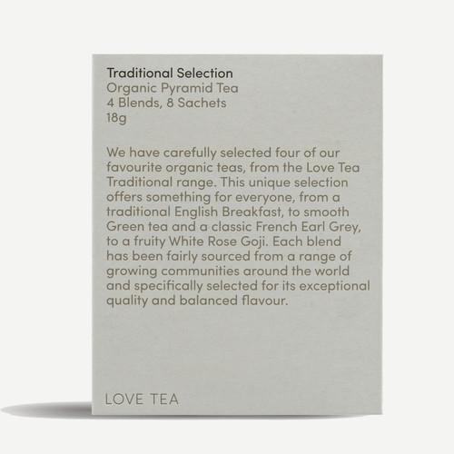 Traditional Sampler Selection (8 Pyramid bags) Organic - Love Tea