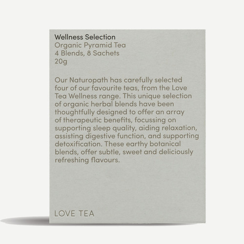 Wellness Sampler Selection (8 Pyramid bags) Organic - Love Tea