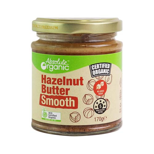 Hazelnut Butter Smooth Organic 170g - Absolute Organic