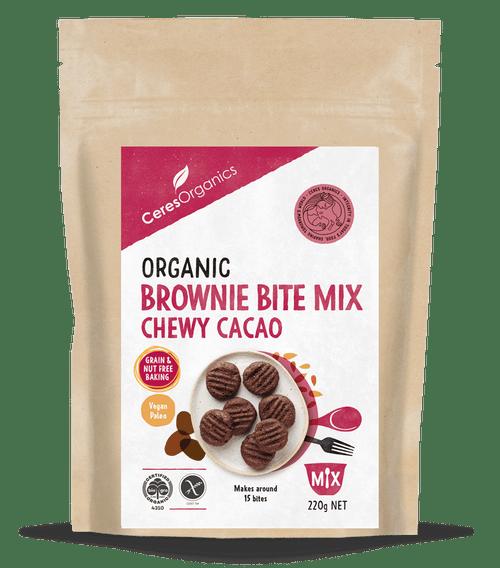 Brownie Bite Mix Organic Gluten Free 220g - Ceres