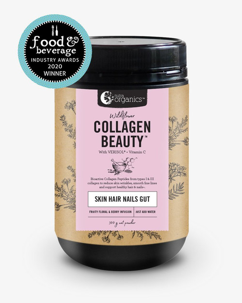 Collagen Beauty + Verisol & Vit C Wildflower 300g Tub - Nutra Organics