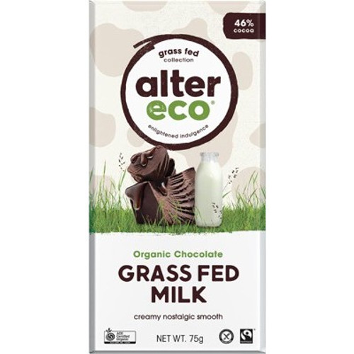 Milk Chocolate Grass Fed Organic 75g - Alter Eco