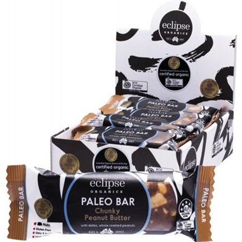 Chunky Peanut Butter Raw Paleo Bar - Eclipse Organics