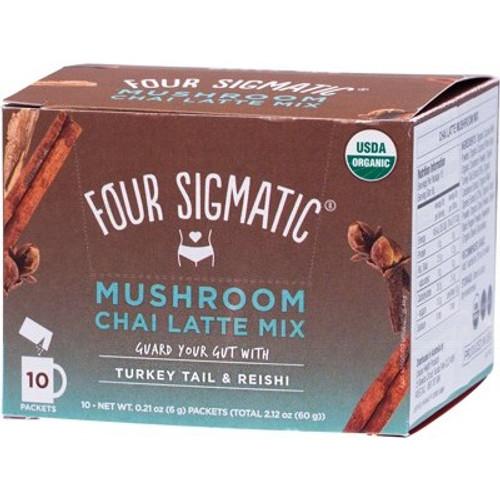 Mushroom Chai Latte mix packets with Turkey Tail & Reishi Organic 10x6g - Four Sigmatic