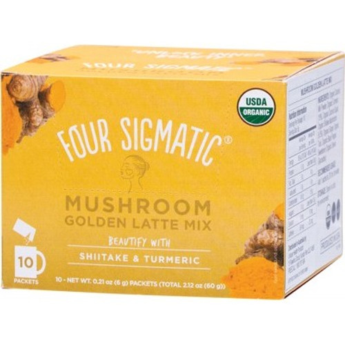 Mushroom Golden Latte mix packets with Shiitake & Turmeric Organic 10x6g - Four Sigmatic