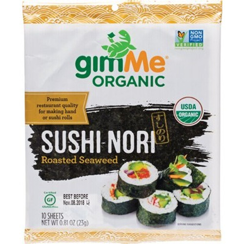 Sushi Nori Roasted 10 Sheets 23g - Gimme