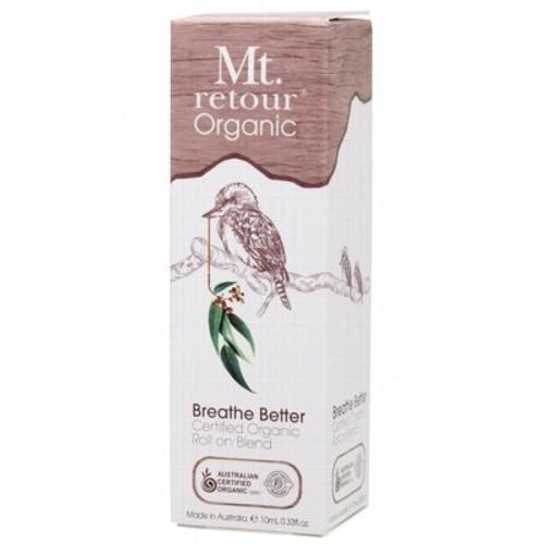 Essential Oil Breathe Better Blend Roll On Organic 10ml - Mt Retour