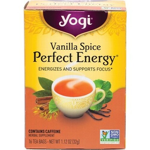 Vanilla Spice Perfect Energy Tea 16 Bags - Yogi Tea