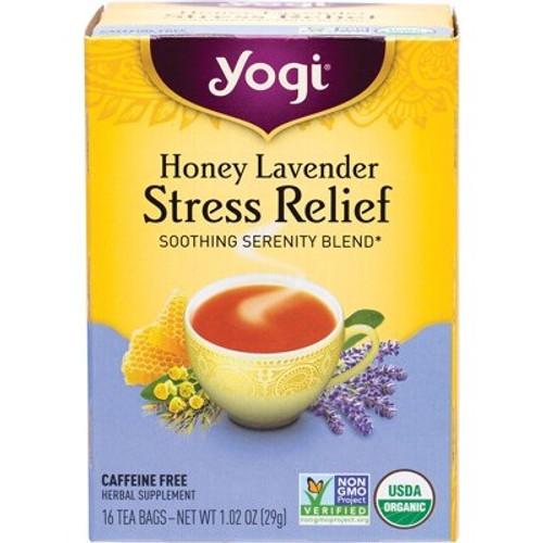 Honey Lavender Stress Relief Tea 16 Bags - Yogi Tea