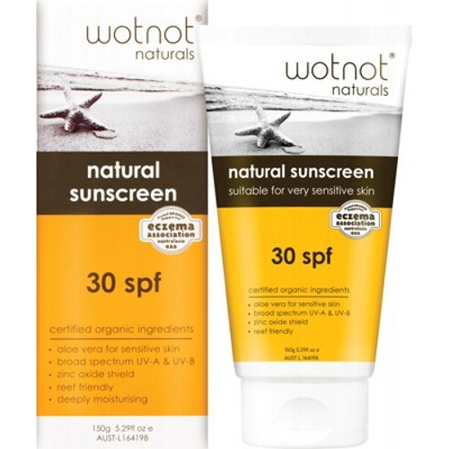 Sunscreen SPF30+ Sensitive Skin 150g - Wotnot