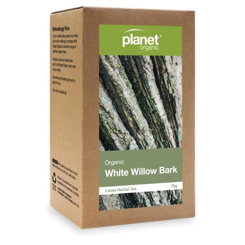 White Willow Bark Loose Leaf Tea Organic 75g - Planet Organic
