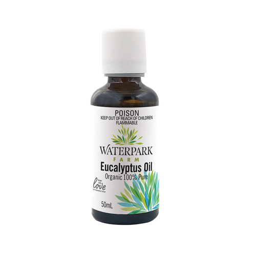 Essential Oil Eucalyptus 100% Organic 50ml - Waterpark Farm