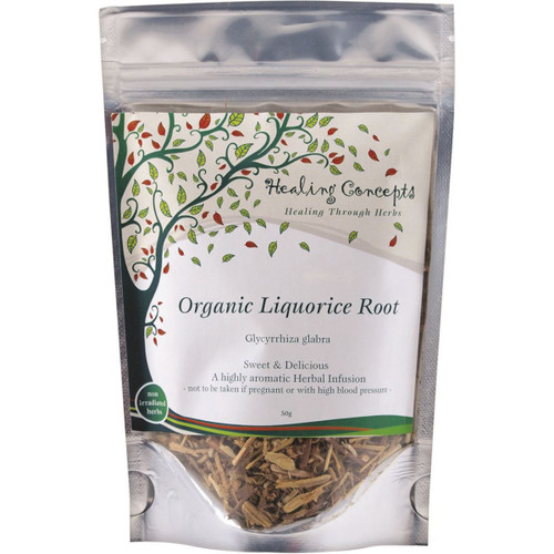 Liquorice (Licorice) Root Tea Loose Leaf Organic 50g - Healing Concepts