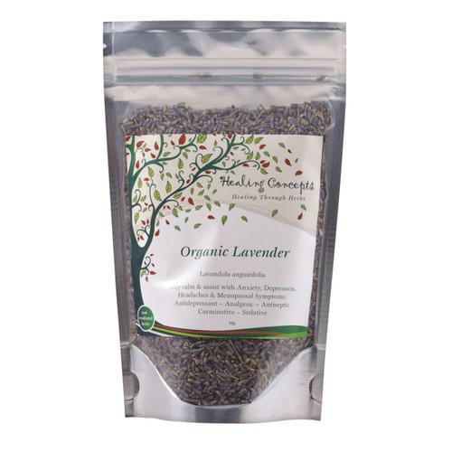 Lavender Tea Loose Leaf Organic 50g - Healing Concepts