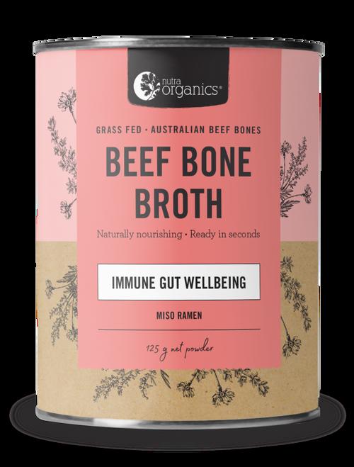 Beef Bone Broth Miso Ramen Organic 125g Canister - Nutra Organics