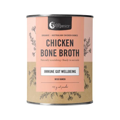 Chicken Bone Broth Miso Ramen Organic 125g Canister - Nutra Organics