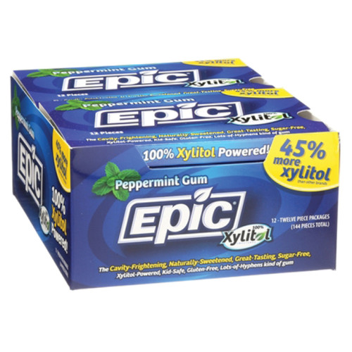 Xylitol Dental Gum Peppermint  12pc Blister pack - Epic