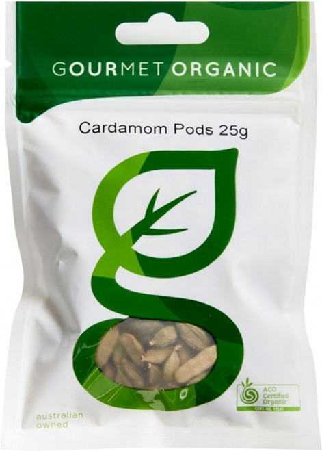 Cardamom Pods Organic 25g - Gourmet Organics
