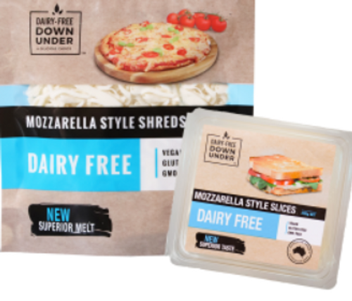 Mozzarella Style Shreds Dairy Free Vegan 200g - Dairy Free Down Under