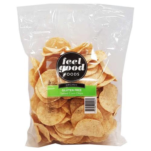 Corn Chips Salted Organic 500g - Feel Good Foods