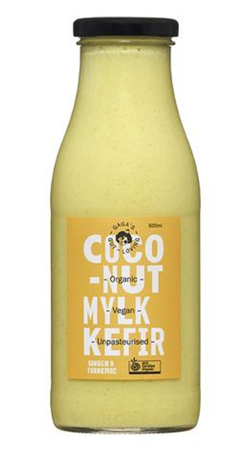 Coconut Milk Kefir Ginger & Turmeric Organic 500ml - Gagas