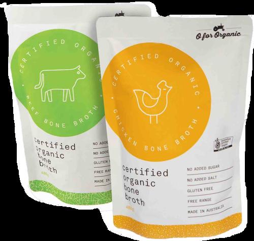 Bone Broth Chicken Organic 400ml - O for Organic