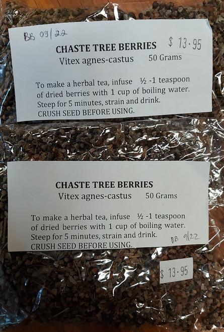 Chaste Tree Berries (Vitex) Loose Leaf Tea 50g - Herbs are Special