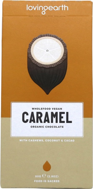 Caramel Chocolate Raw Organic 80g - Loving Earth