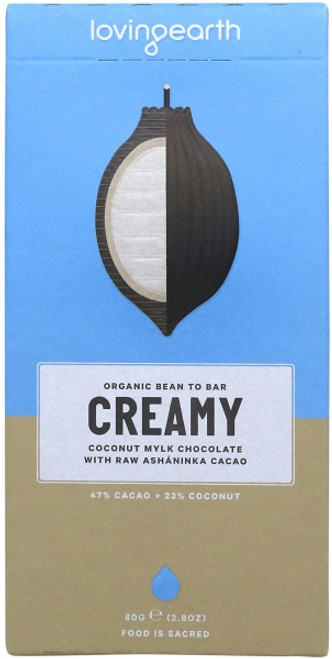 Creamy Coconut Mylk Chocolate Raw Organic 80g - Loving Earth