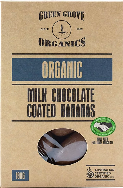 Monkey Chews Chocolate Banana Organic 180g box - Green Grove Organics