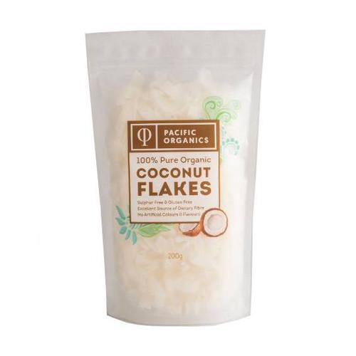 Coconut Flakes Organic 200g - Pacific Organics