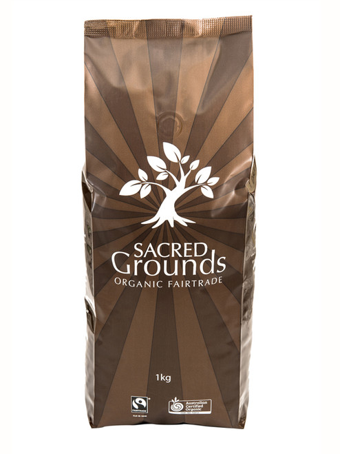 Coffee Beans Decaffeinated 1kg - Sacred Grounds  *order only