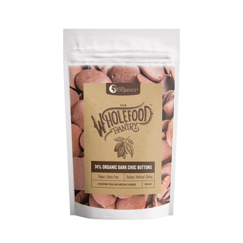Chocolate Buttons Dark Belgium 250g - The Wholefood Pantry