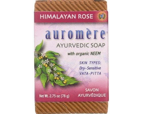 Soap Ayurvedic Himalayan Rose 78g - Auromere