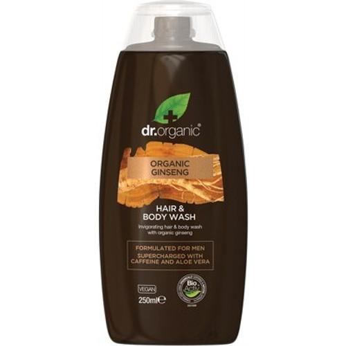 Men's Hair & Body Wash Organic Ginseng 250ml - Dr Organic
