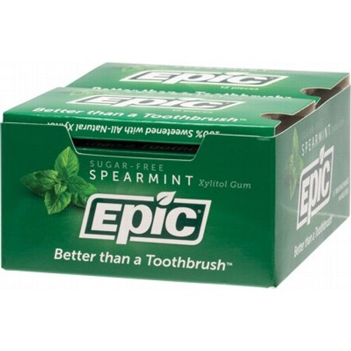 Xylitol Dental Gum Spearmint  12pc Blister pack - Epic
