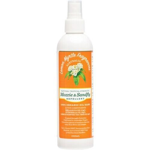 Tropical Strength Mozzie & Sandfly Repellent 250ml - Lemon Myrtle Fragrances