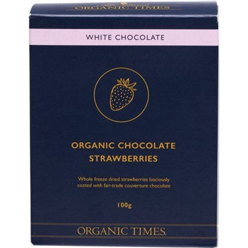 White Chocolate Strawberries 100g - Organic Times