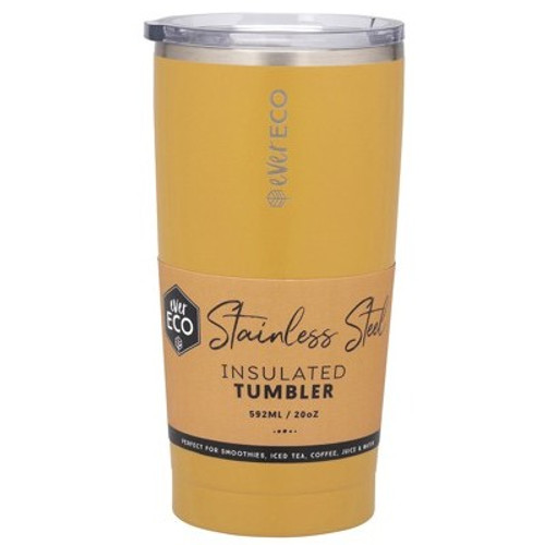 Cup/Tumbler Insulated Stainless Steel Marigold 592ml/ 20oz - Ever Eco