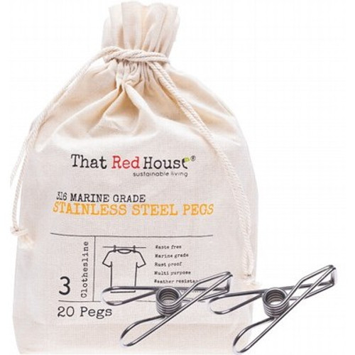 Pegs Stainless Steel 316 Marine Grade x 20 - That Red House