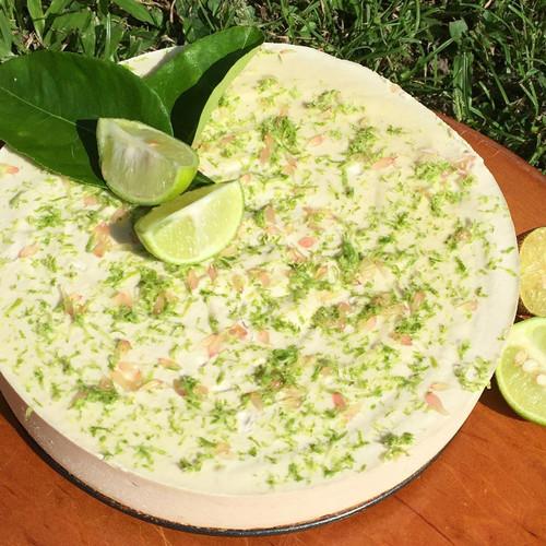 Raw Lime 'Cheesecake' Vegan (Gluten Free) Organic ingr - per slice