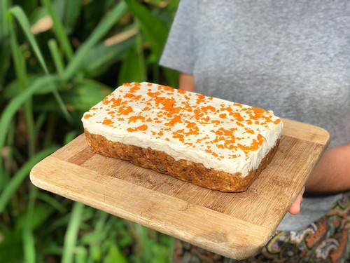 Raw Carrot Cake Vegan (Gluten Free) Organic ingredients - per slice